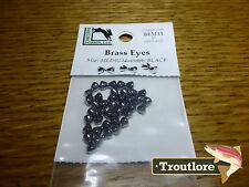 Hareline Brass Dumbbell Eyes Fly Tying Materials Assorted Colors Various Sizes BEM11 Medium Black