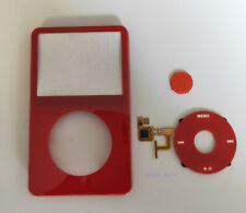 Red Front Housing Case Cover+Button+Red Clickwheel For iPod Video 5th gen 5.5th