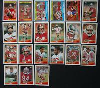 1988 Topps San Francisco 49ers Team Set of 21 Football Cards