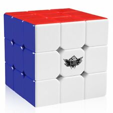 3x3 Stickerless Speed Magic Rubiks Cube Kids Adults Fun Color Puzzle Toys Gifts