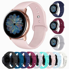 For Samsung Galaxy Watch 42/46mm Active 2 Silicone Sport Replacement Band Strap