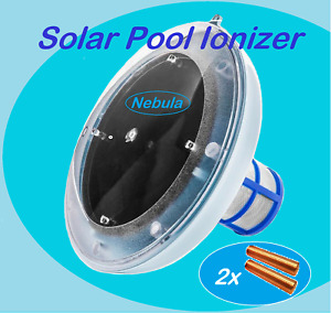 New Solar Pool Ionizer with TWO Copper-Silver Anode Bar