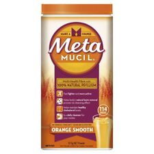 Metamucil Daily Fibre Supplement Smooth Orange 114 Doses 673g