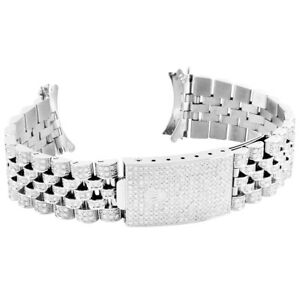Mens 36MM Datejust Rolex Real Diamond Stainless Steel Jubilee Watch Band