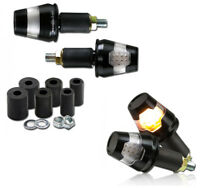 1 Paar Alu Lenkerendenblinker Conic LED Blinker schwarz E-geprüft (298040)