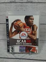 NCAA March Madness 08 (PS3 Sony PlayStation 3, 2007) Complete W/ Manual And Case