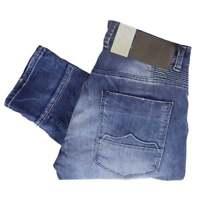 883 Police Cassady Ben 429 Mid Wash Patched Up Regular Fit Jeans