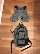 Patagonia Pack Vest Fly Fishing Day 2 In 1 Clip On Green Black 15L