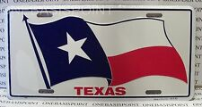 Texas State Flag License Plate Aluminum Lone Star Embossed Sign Car Tag Auto New