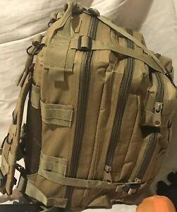 Khaki Emergency Survival BackPack Essential Bug out Bag Zombie Hurricane Hiking
