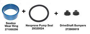New Seadoo wear ring 271000290 + 293200024 SEAL + 272000019 Driveshaft Bumpers