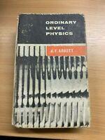 "1967 ""ORDINARY LEVEL PHYSICS"" ILLUSTRATED THICK HARDBACK BOOK"