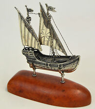 VELIERO IN ARGENTO, SAILBOAT IN SILVER MASTRO DE PAJA