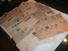 Lot 32 German Reich Postal Covers RARE , Stamps Cancels Seals Registered Blocks