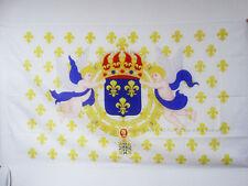 DRAPEAU ROI DE FRANCE FLEUR DE LYS 150x90cm - DRAPEAU ROYALISTE FRANÇAIS 90 x 15