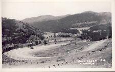 ROCK CREEK BRITISH COLUMBIA HIGHWAY FROM WEST 1954 BC RPPC Photo Postcard