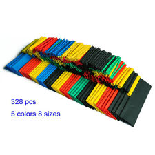Heat Shrink Tubing Tube 328 Pcs 2:1 Polyolefin Car Electrical Wire Sleeve Wrap