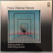 HENZE Wergo WER 60114/15 2xLP ARDITTI STRING QUARTET audiophile LP violin cello