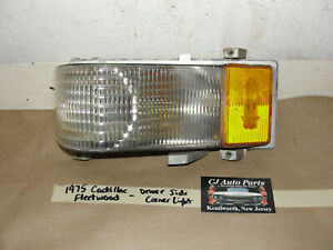 OEM 1975 Cadillac Fleetwood LEFT DRIVER SIDE CORNER LIGHT TURN SIGNAL PARK LENS