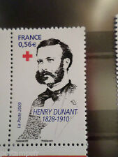 FRANCE 2009, timbre 4386, CROIX ROUGE H. DUNANT, neuf** MNH STAMP RED CROSS
