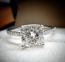 Dazzling 1.20 Ct. Cushion Cut Diamond Engagement Pave Ring G VS1 EGL USA 14k WG