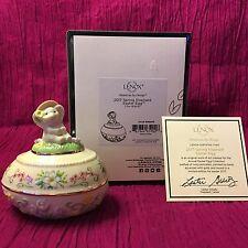 Lenox Porcelain 2017 Spring Elephant Easter Egg Annual Collectible Trinket Box
