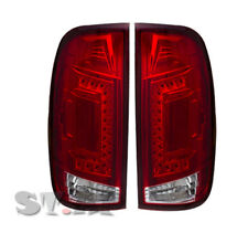 97-03 Ford F150 F250 SD Truck Led Rear Tail Lights New Generation Lamp Clear Red