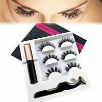 3 Pair Liquid Magnetic Eyeliner And Magnetic False Eyelashes Easy to Wear Lashes