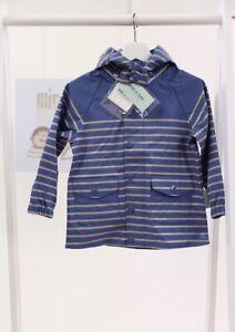 MINI A TURE - Regenjacke JULIEN bijou blue mit Streifen Gr 104-116 NEU! % Sale