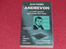 [BIBLIOTHEQUE H.& P-J. OSWALD] CABINET NOIR # 36 J.P ANDREVON PETIT GARCON 1999