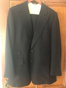 Paul Stuart New York - Men's 2 piece suit - Black, 100% Wool, chest 41, waist 35