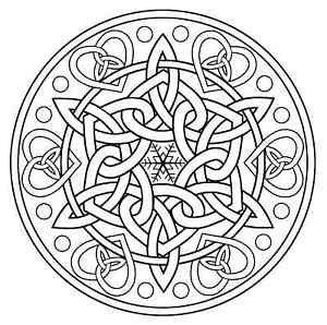 Celtic Knot Snowflake Unmounted rubber stamp