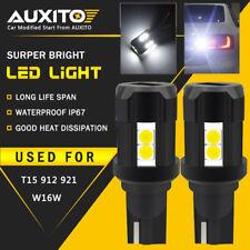AUXITO 2X CANBUS T15 912 LED Reverse Backup Light Bulb 6000K White Error Free EO