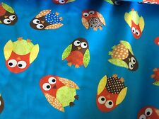 "FABRIC FINDERS #1257 OWLS-COTTON-60""W- BY THE YARD"
