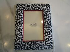 2 Pottery Barn Kids  navy floral frames 4 X 6   New