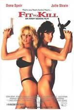 FIT TO KILL Movie POSTER 27x40 Dona Speir Roberta Vasquez Bruce Penhall Geoffrey