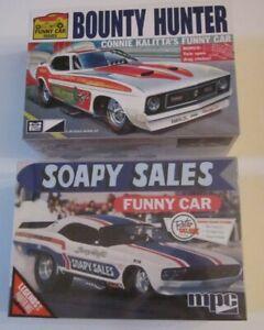 MPC Bounty Hunter Mustang & Soapy Sales Challenger Funny Car Lot 2 Kits FS/UB