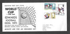 1966 World Cup ordinary on RARE Edwards Football Goal Nets FDC - Bridport CDS.