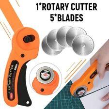 45mm Rotary Cutter Fabric Cutting Wheel Leather Cutter DIY Cloth Hob & 5 Blades