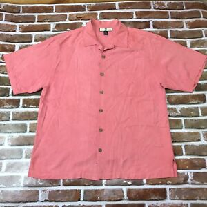 Tommy Bahama Embroidered 100% Silk Paradise Patrol To Surf and Protect Mens L