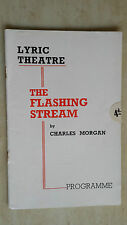 THEATRE PROGRAMME- CHARLES MORGAN - MARGARET RAWLINGS in THE FLASHING STREAM