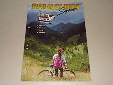 Prospekt Katalog Paulchen Fahrrad Heck Träger Gepäckträger Trägersysteme