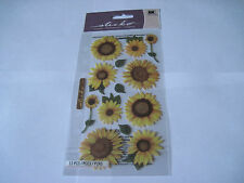 Scrapbooking Stickers Sticko Vellum Sunflowers Large Small Leaves Flowers Yellow
