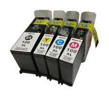 4x NON-OEM For Lexmark 100 XL Ink set Interact S605 Pro901 S301 S816 S815