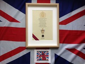 Oath Of Allegiance Royal Engineers (framed with metal Cap Badge)