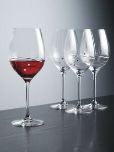 Barski European Sparkle Red Wine Glass-w/ Swarovski Diamonds-16oz-Set/4-Gift Box