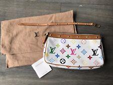 Louis Vuitton Multicolor Pochette Accessories White Vintage Murakami