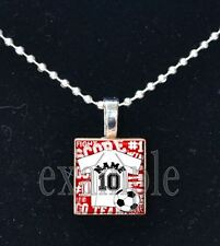 Personalized Custom Name Team # SOCCER Jersey Scrabble Necklace Charm Keychain