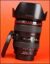 24-105mm F4 Canon EF L IS IS USM AF Zoom Lens + F/R Cappuccio Obiettivo CAPS
