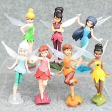7 DISNEY FAIRIES TINKERBELL ACTION FIGURES DOLL FIGURINES TOY CAKE DECOR TOPPER
